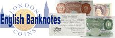 Realised Auction Prices for English (British) Banknotes
