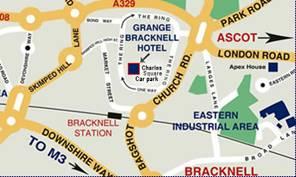 Grange Bracknell Hotel Map