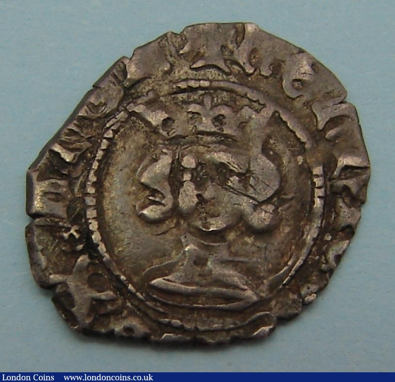 Halfpenny Henry IV heavy coinage, early small bust. S.1723. Almost very fine with clear kings name. Rare. : Hammered Coins : Auction 122 : Lot 1238
