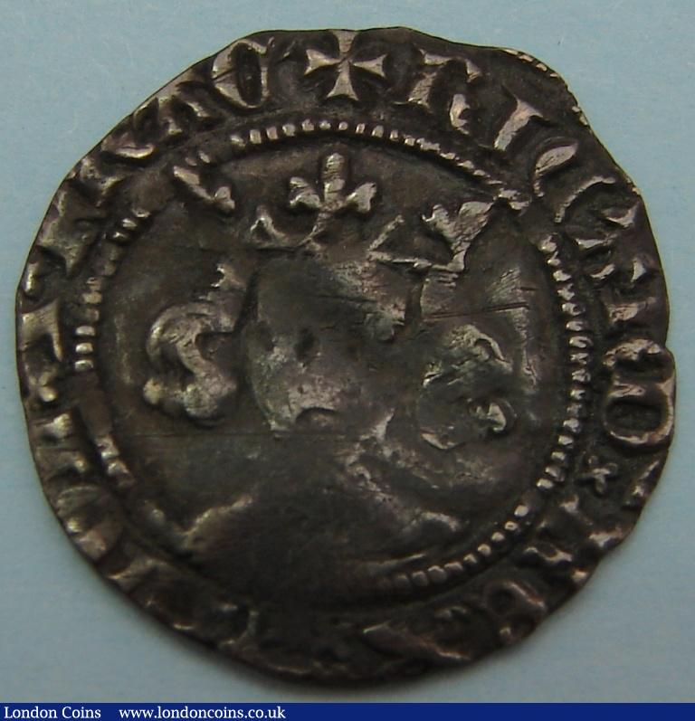 Penny Richard II class II, London mint. S.1688. About fine. : Hammered Coins : Auction 122 : Lot 1294