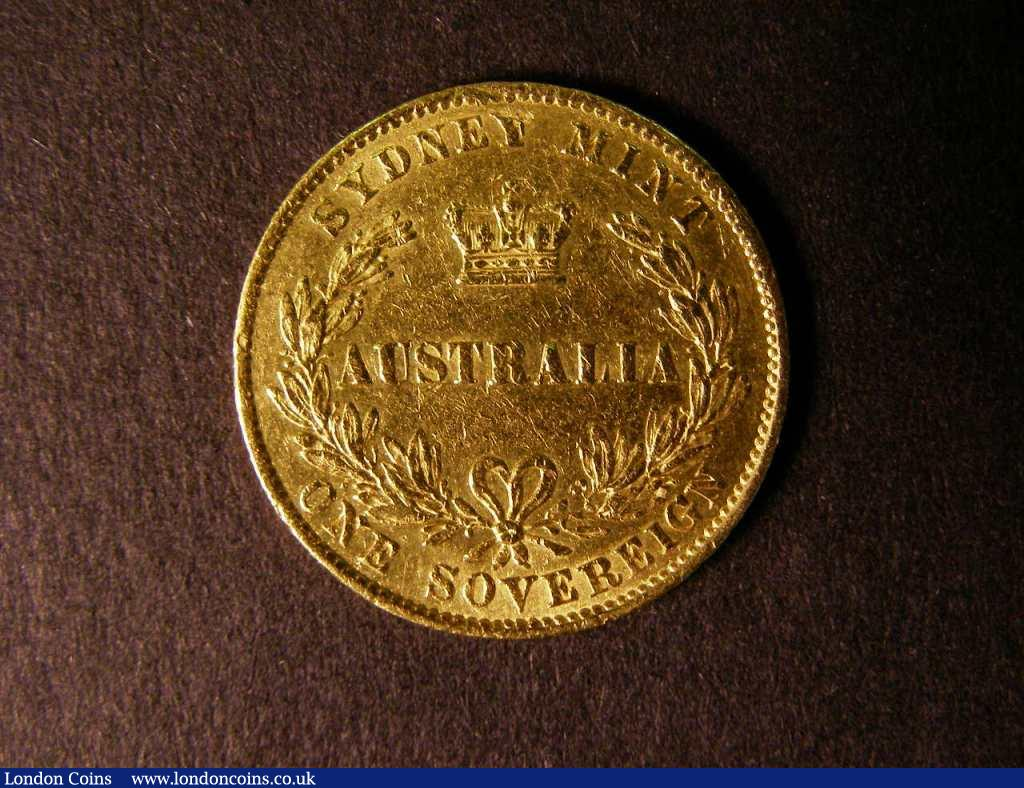 Australia Sovereign 1859 Sydney Branch Mint Marsh 364 Good Fine with numerous surface marks : World Coins : Auction 122 : Lot 1324