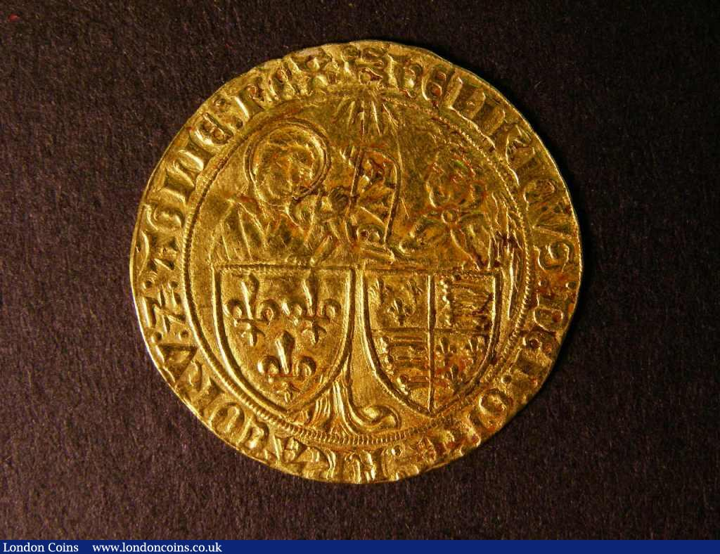 France Salut D'Or Henry VI 1422-1461 Mintmark Lion Passant (Rouen) VF with some flecks of discoloration : World Coins : Auction 122 : Lot 1355