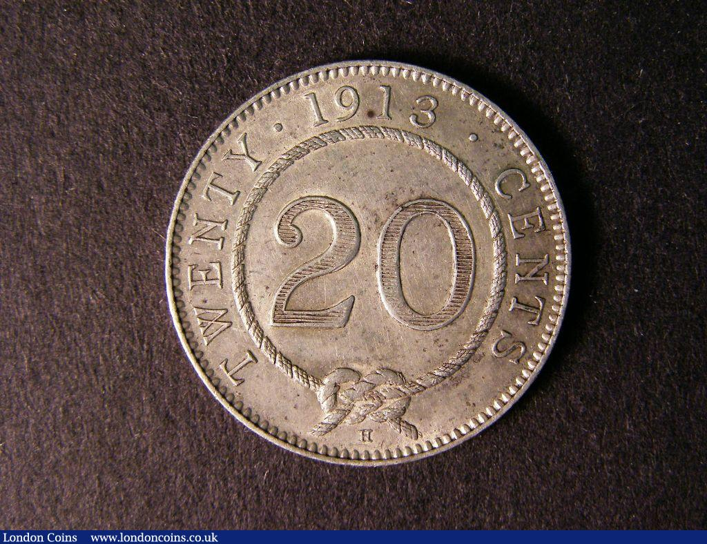 Sarawak 20 Cents 1913H KM#10 About EF and scarce : World Coins : Auction 122 : Lot 1402
