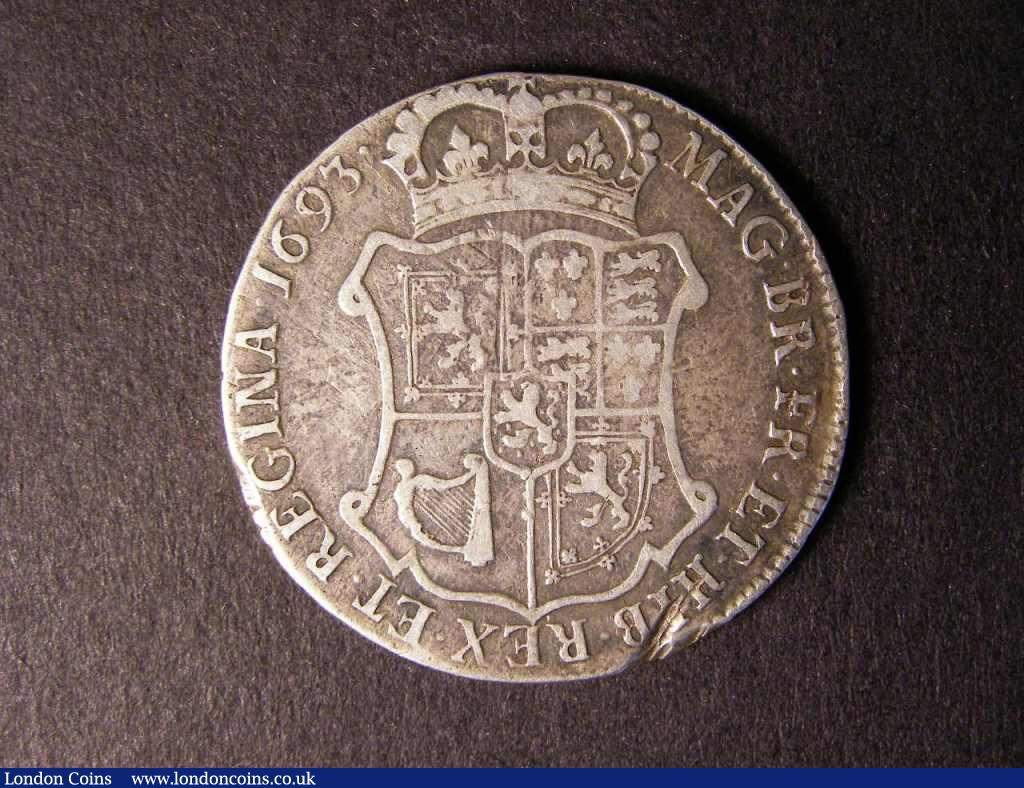 Scotland 40 Shillings 1693 QUARTO S.5652 Fine/GF with a knock on the flan at 5 o'clock on the reverse  : World Coins : Auction 122 : Lot 1410