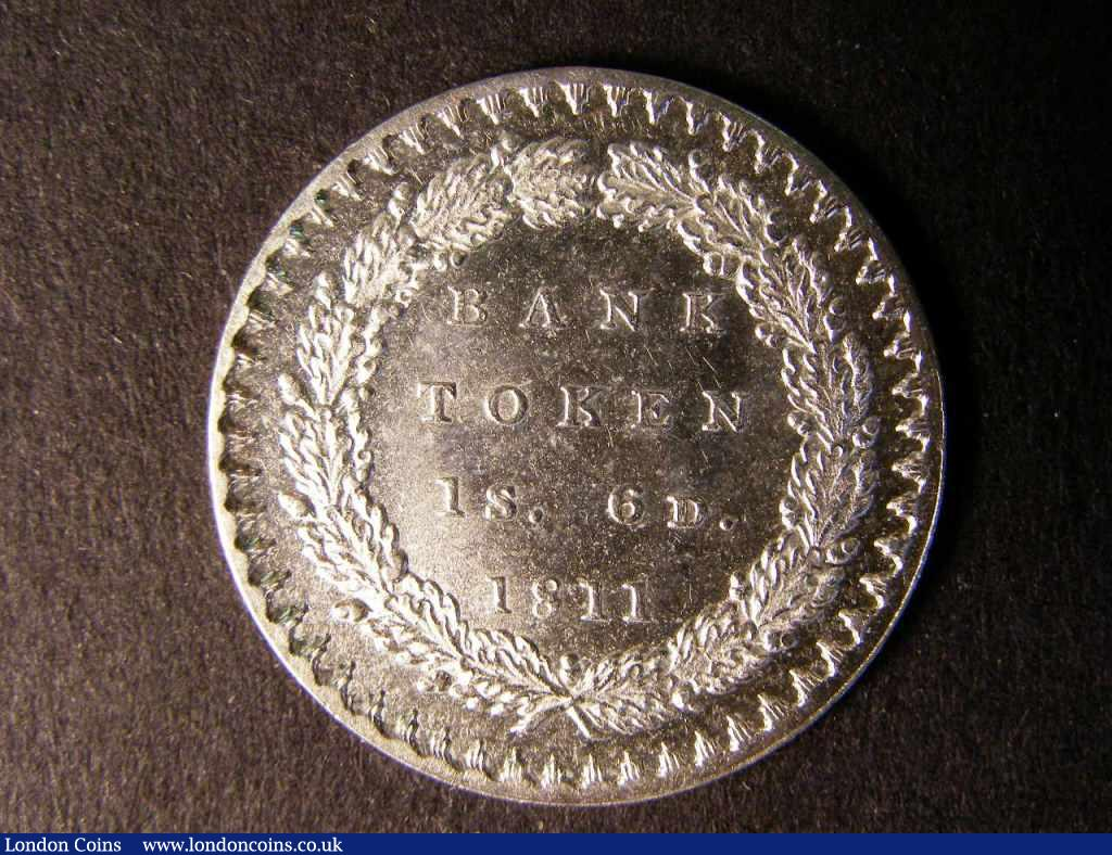 Bank Token Eighteen Pence 1811 ESC 969 Lustrous UNC/AU : English Coins : Auction 122 : Lot 1460