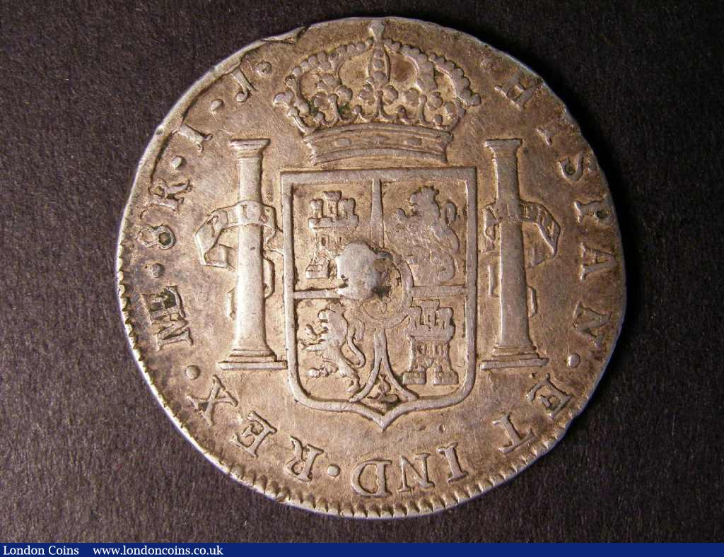 Dollar George III Octagonal Countermark on a Peru 8 Reales Lima 1797 ESC 140A Countermark NVF host coin GF with several surface knocks, Rare : English Coins : Auction 122 : Lot 1504