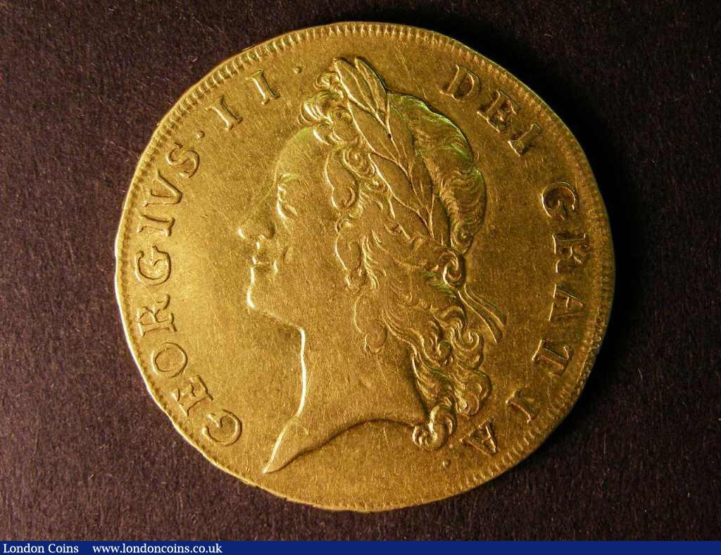 Five Guineas 1729 S.3663 better than Fine a good collectable and problem-free example of George II large gold : English Coins : Auction 122 : Lot 1542