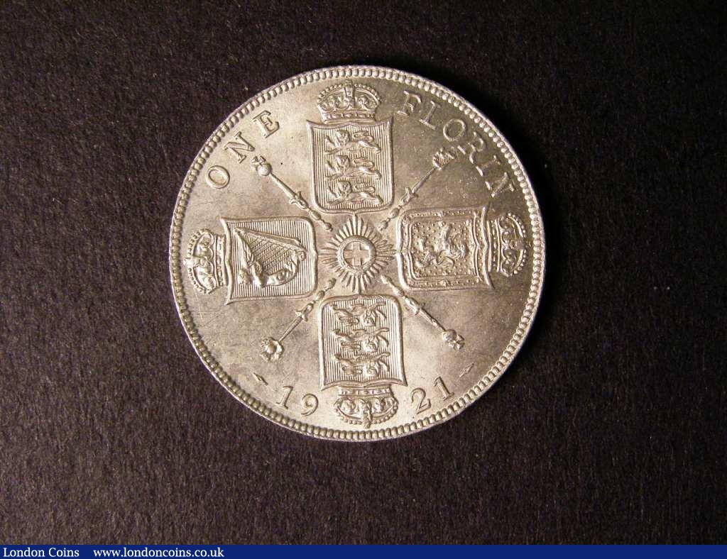 Florin 1921 ESC 940 UNC with a few tiny rim nicks and a few light contact marks : English Coins : Auction 122 : Lot 1558