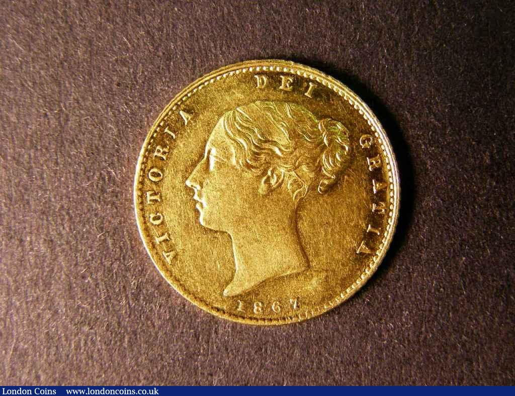 Half Sovereign 1867 Die Number 15 Marsh 443 Lustrous A/UNC : English Coins : Auction 122 : Lot 1597
