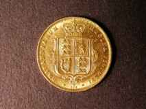 London Coins : A122 : Lot 1603 : Half Sovereign 1874 Marsh 449 Die Number 338 GVF with a hairline scratch on the obverse