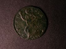 London Coins : A122 : Lot 1657 : Halfpenny 1697 S3554 some surface porosity otherwise a higher grade example VF/nVF