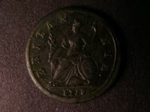 London Coins : A122 : Lot 1664 : Halfpenny 1717 R of BRITANNIA over B and unlisted as such by Peck, we note there was no example ...