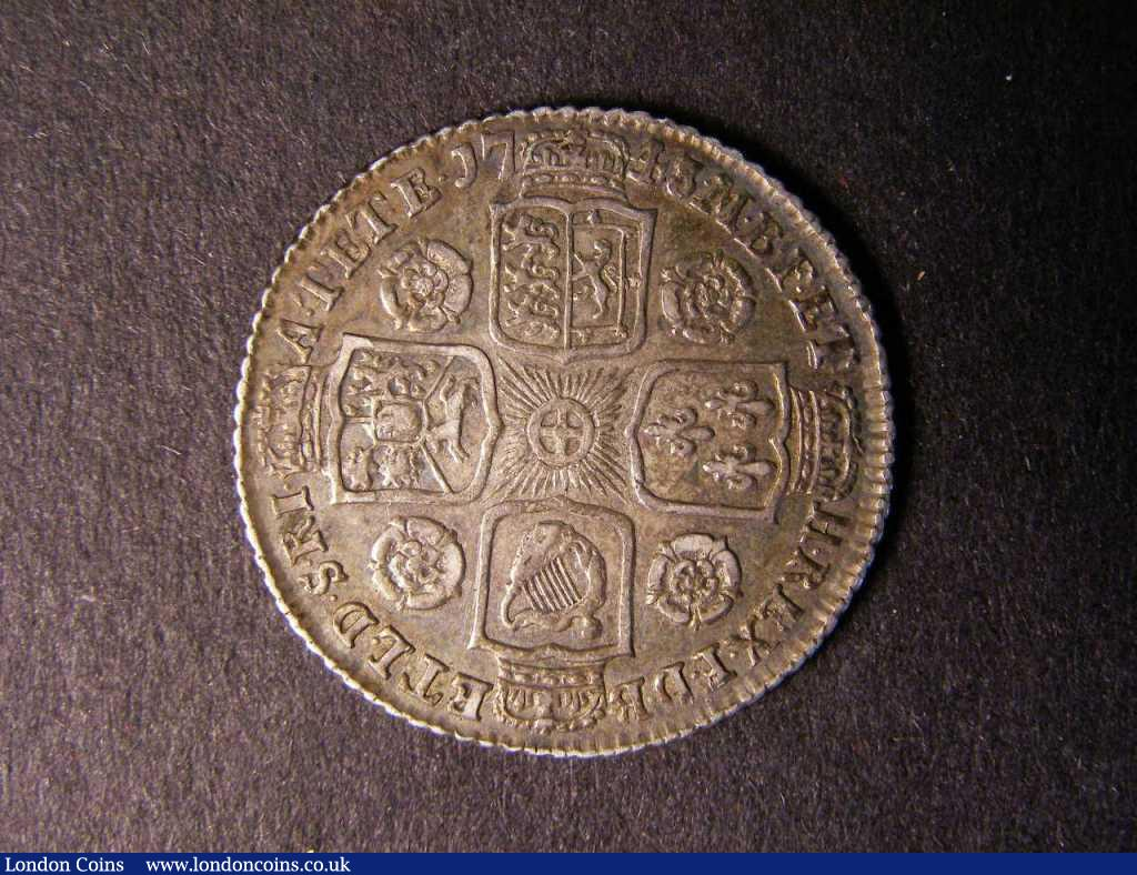 Shilling 1743 Roses ESC 1203 VF nicely toned : English Coins : Auction 122 : Lot 1780