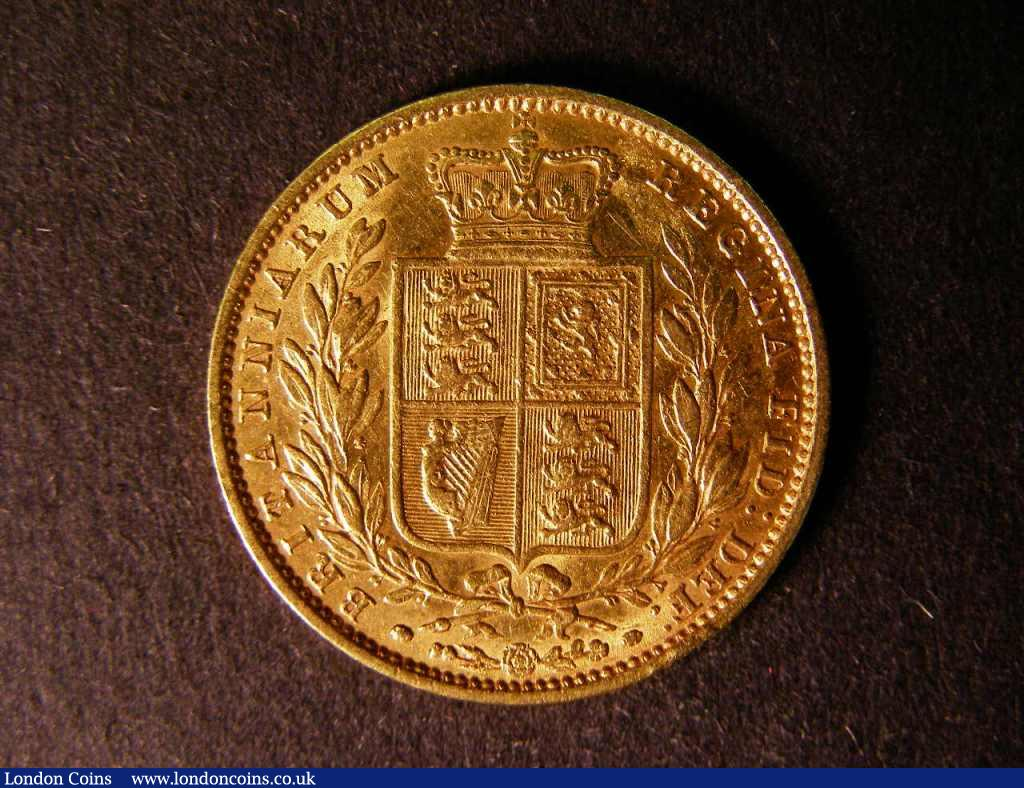 Sovereign 1855 Marsh 38 GF : English Coins : Auction 122 : Lot 1849