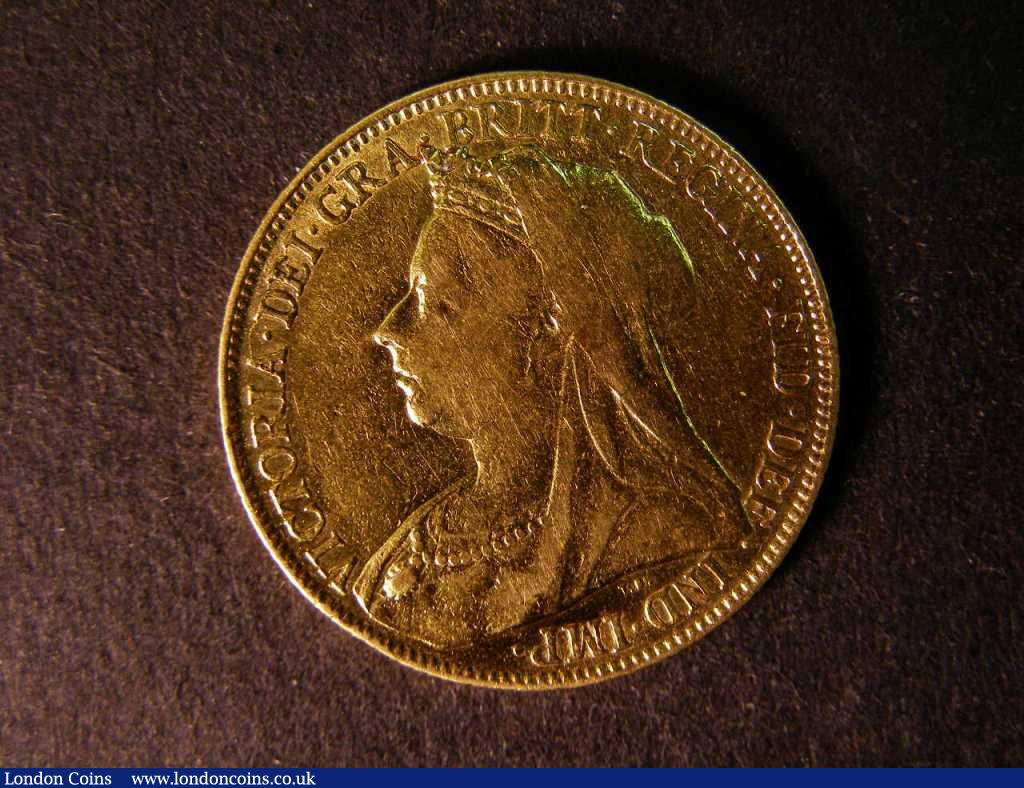 Sovereign 1898 Marsh 149 F/GF : English Coins : Auction 122 : Lot 1937