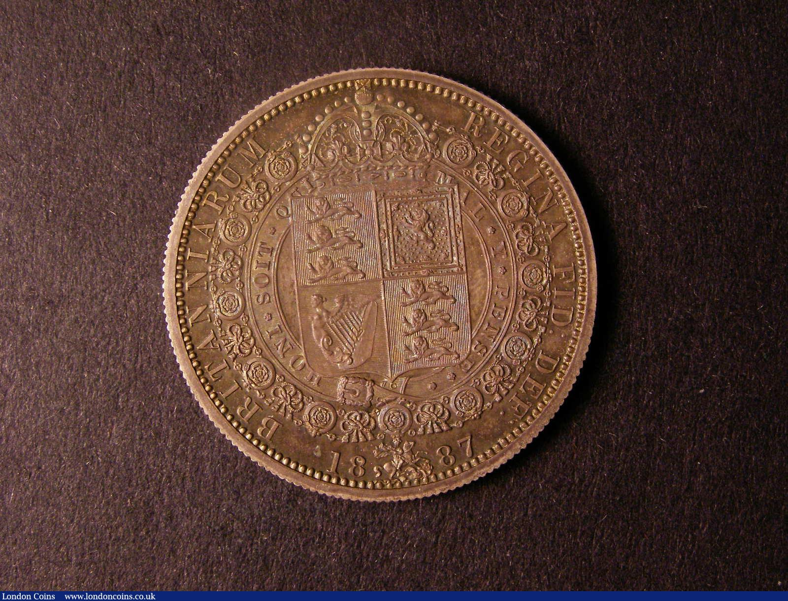 Halfcrown 1887 Obv 1 Rev A -- B S C  640P -- a very rare pattern pro