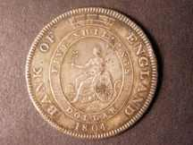 London Coins : A124 : Lot 1735 : Dollar Bank of England 1804 a copy in base metal Good Fine with some edge and surface knocks
