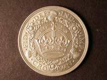 London Coins : A124 : Lot 194 : Crown 1928 ESC 368 EF or better