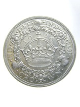 London Coins : A124 : Lot 2034 : Crown 1936 ESC 381 EF with a pleasing grey tone and a few light contact marks on the obverse as ofte...