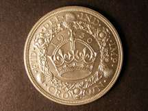 London Coins : A124 : Lot 240 : Crown 1936 ESC 381 Lustrous UNC or near so with very light contact marks on the obverse as often