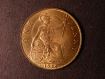 London Coins : A124 : Lot 828 : Penny 1918H Freeman 183 dies 2+B UNC with good lustre the obverse weakly struck as often on this iss...