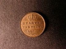 London Coins : A124 : Lot 848 : Quarter Farthing 1852 Peck 1610 Lustrous GEF/AU