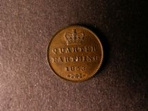 London Coins : A124 : Lot 851 : Quarter Farthing 1853 Peck 1612 EF