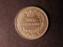 London Coins : A124 : Lot 862 : Shilling 1850 ESC 1297 50 over 49 or 46 (R4). The 5 clearly struck over a 4 though the underlying fi...