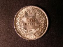 London Coins : A124 : Lot 881 : Shilling 1869 ESC 1319 Die Number 5 GEF scarce