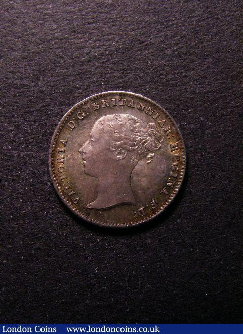Threepence 1838 ESC 2048 UNC with colourful toning : English Coins : Auction 125 : Lot 1143