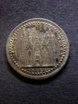 London Coins : A125 : Lot 527 : Eighteen Pence 1811 Northamptonshire Davis 3 Peterborough NEF with slightly uneven toning