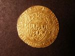 London Coins : A125 : Lot 793 : France, Charles VII (1422-61) gold Ecu Neuf. Weighs 3.1 grams. Crowned shield dividing crowned l...