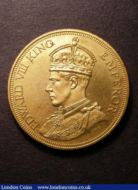 Cyprus pattern 1937 45 Piastres Edward VIII crowned and robed with a?'King Emperor' legend, the only example known in this golden alloy, choice?as struck : World Coins : Auction 125 : Lot 871