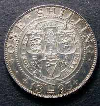 London Coins : A126 : Lot 1422 : Shilling 1893 Small Obverse Letters ESC 1361A Bright EF/GEF