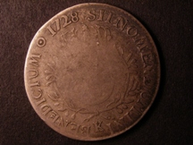 London Coins : A126 : Lot 481 : France Ecu 1728 K Bordeaux Mint KM#486.11 VG worn in centre