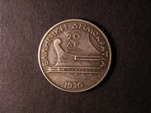 London Coins : A126 : Lot 501 : Greece 20 Drachmai 1930 Good EF dark tone