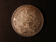 London Coins : A126 : Lot 568 : South Africa Halfcrown 1897 KM#7 AU/GEF with some light contract marks