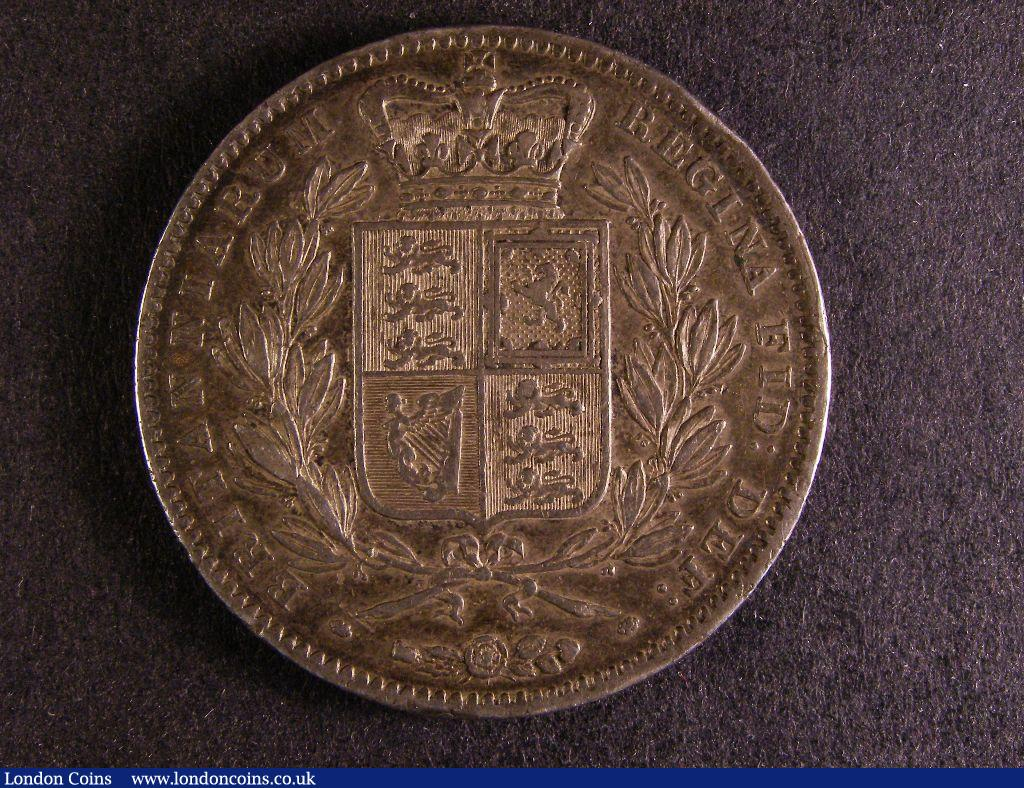 Crown 1847 Young Head ESC 286 NVF toned : English Coins : Auction 127 : Lot 1347