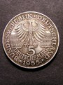 London Coins : A129 : Lot 805 : Germany 5 Marks 1955G KM#115 EF toned, scarce