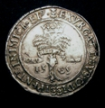 London Coins : A129 : Lot 860 : Scotland Mary 2/3 Ryal Fourth Period Mary and Henry Darnley 1565 S.5426 VF