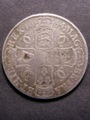 London Coins : A129 : Lot 987 : Engraved Crown 1684 TRICESIMO SEXTO ESC 66 engraved with G.Muschamp on the obverse VG/NF
