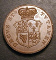 London Coins : A130 : Lot 1055 : Crown 1820 Pattern by Droz in copper ESC 244 as Monneron's pattern by Dupre (1792) Obv. VIS VNITATE ...
