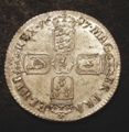 London Coins : A131 : Lot 1713 : Shilling 1697 First Bust ESC 1091 UNC and lustrous with some signs of flan stress on the obverse,...