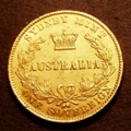 London Coins : A132 : Lot 657 : Australia Sovereign 1864 Sydney Branch Mint Marsh 369 NEF with some surface marks