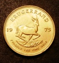London Coins : A133 : Lot 1467 : South Africa Krugerrand 1974 KM#73 Lustrous UNC with a few contact marks
