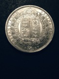 London Coins : A133 : Lot 555 : Halfcrown 1887 Jubilee Head ESC 717 UNC the obverse with a few contact marks