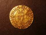 London Coins : A134 : Lot 1733 : Angel Henry VIII First Coinage S.2265 with h and Rose mintmark Portcullis Fine