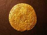 London Coins : A134 : Lot 1778 : Ryal Edward IV S.1950 Large fleurs in spandrels, mintmark long cross fitchee NVF with a flan chi...