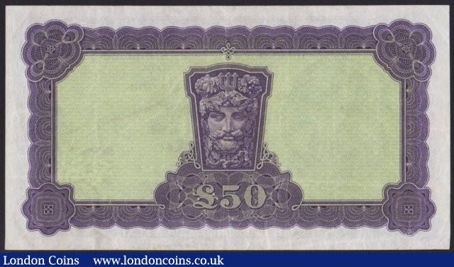 Ireland Republic Central Bank Lady Lavery £50  dated 4.4.77 series 05A 071226, Pick68c, pressed, gFine to VF : World Banknotes : Auction 137 : Lot 323