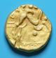 London Coins : A138 : Lot 1619 : Au Stater. Ingoldisthorpe type. C, 70 BC. Obv; Devolved head of Apollo. Rev; Disjointed ...